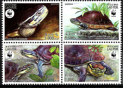 Laos 2004 turtles wwf 4v MNH