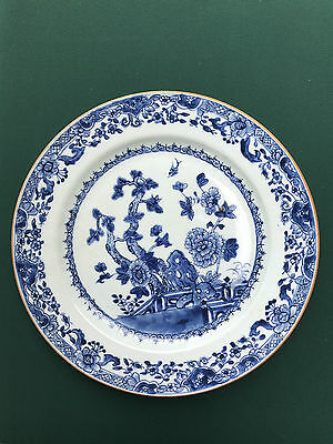 Antique blue and white plate