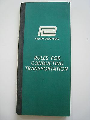 Vintage 1968 Penn Central Railroad PC Rule Book Train Locomotive Engineer