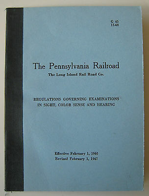 Vintage 1947 Pennsylvania Railroad PRR Long Island LIRR Sight Hearing Booklet
