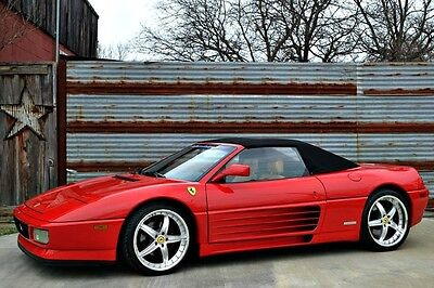1994 Ferrari 348  348 Spider~Red/Beige~34K Miles~Major Service at 34,388 miles