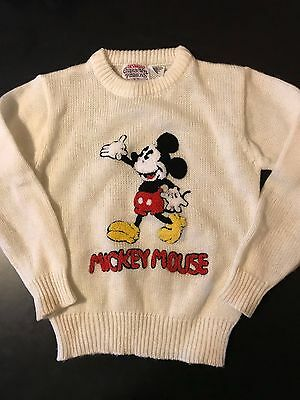 Vintage Youth Kids Mickey Mouse Disney Character Fashions Size 7-8 Sweater