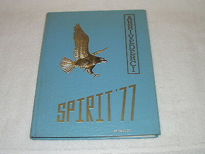 Vintage 1977 Arrivederci Spirit '77 Aberdeen High School Yearbook Cal Ripken Jr.