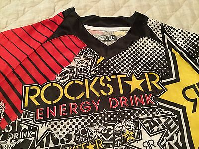 ROCKSTAR Energy Drink ANSWER Motocross jersey size L EUC