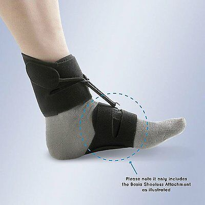 BLACK Boxia Shoeless Attachment,  To be used with Boxia Drop Foot Support AFO
