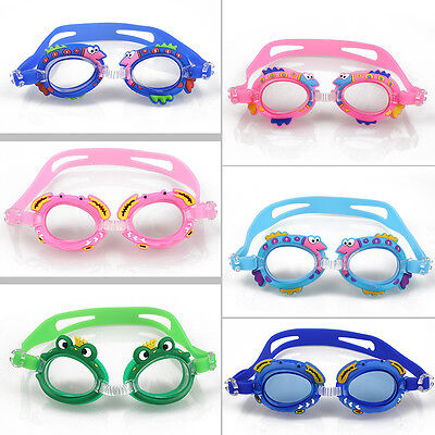 Cartoon Swimming Glasses Kids Girls Outdoor Anti Fog Waterproof Summer