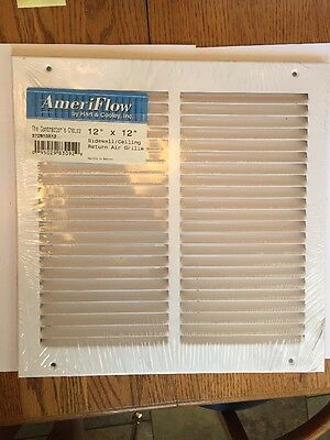 "New Air Grille, AmeriFlow by Hart & Cooley Inc. 372W12X12 - R 12"" X 12"" WHITE"