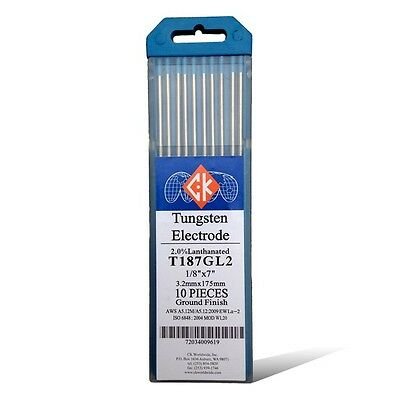 "10 Pack Diamond Ground TIG Weld Tungsten Electrodes 2/% Thoriated RED 0.040/""x7/"""