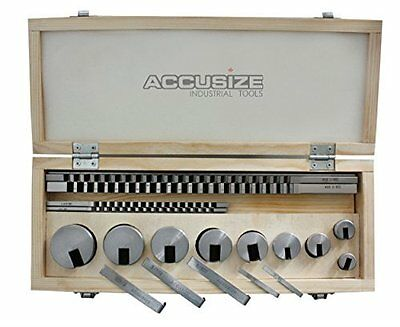 Accusize - No.10 18 ps/set HSS Keyway Broach Sets in Fitted Box, #5100-0010 New