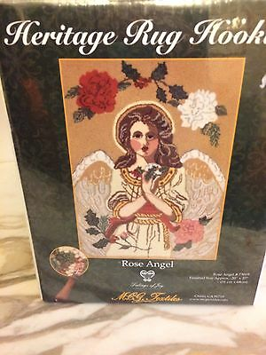 "Heritage Rug Hooking Kit  20"" X 27"" Rose Angel Unopened Tidings of Joy"