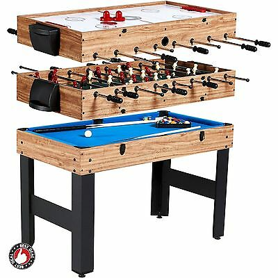 Game Tables 3 In 1 For Room Air Hockey Football Pool Adults Kids Family Combo