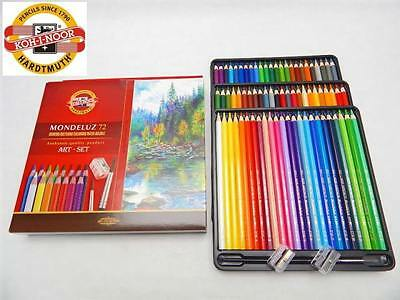 Koh-I-Noor Mondeluz 3714 Aquarell Watercolor Pencils Art Set 72 Colors