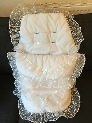 Unisex Universal Large Footmuff / Cosytoes / Seat Liner Pram / Pushchair Quilt
