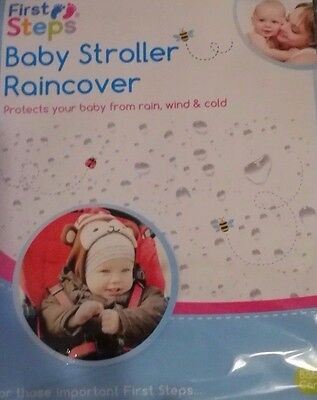 First Steps Baby Stroller Rain cover-protects from rain,wind and cold breeze