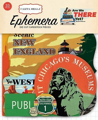 "Carta Bella ""are We There Yet?""   Ephemera Die Cuts Travel Scrapjack's Place"