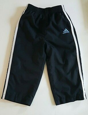 Toddler ADIDAS Athletic/Warm Up/Track Black Pants Size 2T