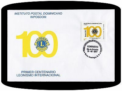 Dominican Republic Centenary Lions Club International Fdc 2017