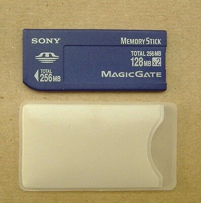 Genuine Sony MSH-128S2 128MB x2 256MB Total Memory Card Stick Magic Gate 256 MB
