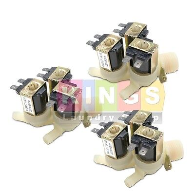 3PK Brand New 3 Way 220V Water Valve for Huebsch, Speed Queen F381718P, F380778