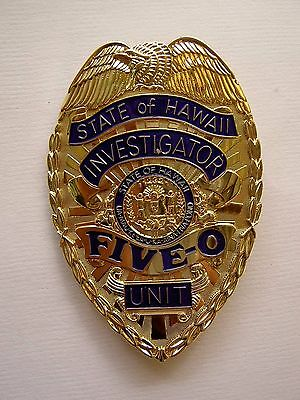 Hawaii 5-O Investigator Badge - TV Show Prop - Jack Lord 5-0 Top Quality Metal