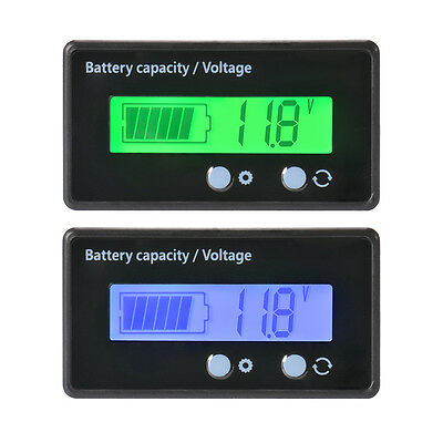 LCD 12V 24V 36V 48V Lead-Acid Battery Status Voltage Voltmeter Monitor Meter Car