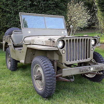 Willys jeep ww2 1945 MB jeep military vehicle barn find
