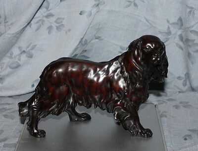 Armani Cavalier King Charles Spaniel Figurine with Short Tail