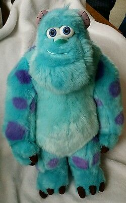 """Disney Store Pixar Sully Monsters Inc Sulley Plush Stuffed Animal Toy 15"""" VGC"""