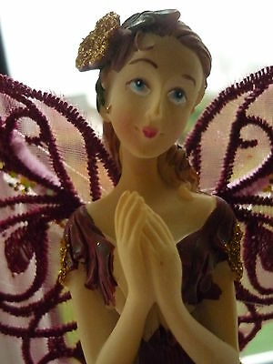 Burgundy Ruby Red Fairy Angel Christmas Tree Topper Decoration New Boxed
