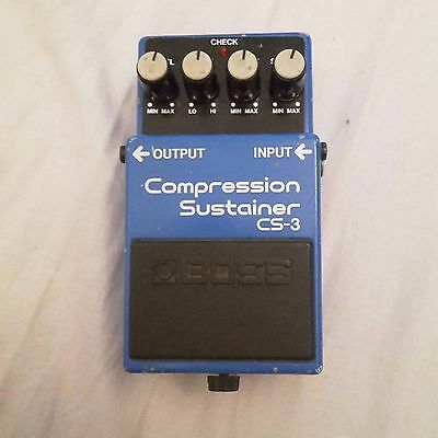 Vintage Japanese ACA Boss CS-3 Compression Sustainer Guitar Effects Pedal
