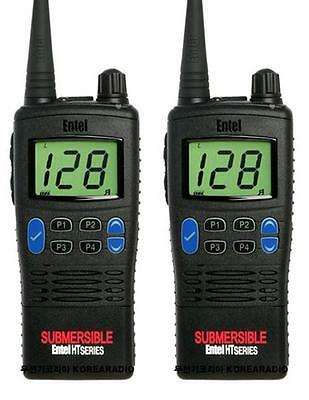 ENTEL HT720 VHF 5 WATT WALKIE-TALKIE TWO WAY RADIOS x 2