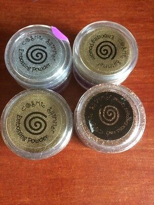 4 Cosmic Shimmer Embossing Powders 20ml