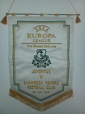 Pennant Embroidered Uefa Europa League Shamrock Rovers x Juventus