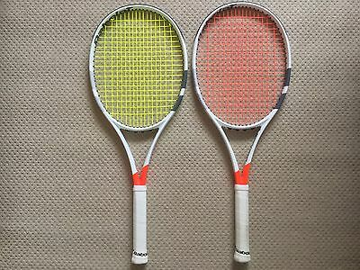 2x Babolat Pure Strike 16x19 (Project One7) Tennis Rackets/Racquets