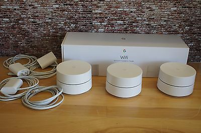 3 Pack Google Wifi Extender Repeater Smart Mesh Whole Home Router Replacement