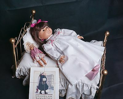 American Girl Pleasant Company Samantha Doll & Bed with Bedding Books More