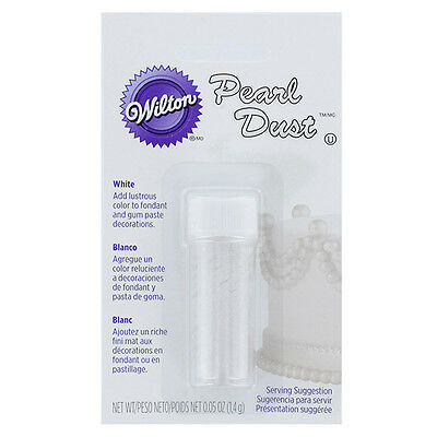 Wilton White Pearl Dust - For Cake Fondant Gum Paste Icing Candy Melt Decorating