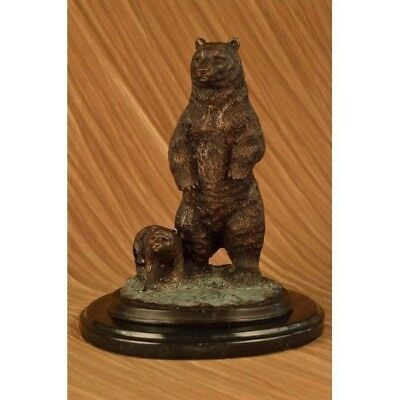 Tall Vienna Bear Art Deco Bronze Sculpture Statue Figurine CB