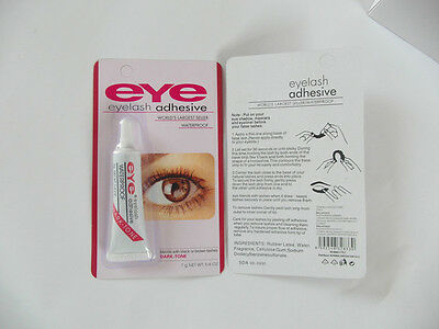 PEGAMENTO ADHESIVO EYE PESTAÑAS POSTIZAS WATERPROOF color Negro Eye Lash adhesiv
