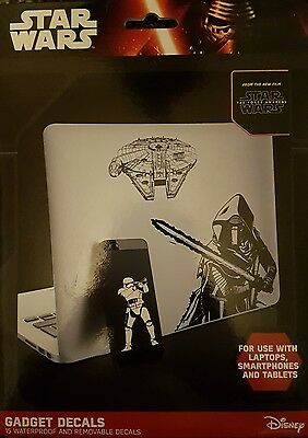 Star wars gadget decals 15 waterproof and removable decals