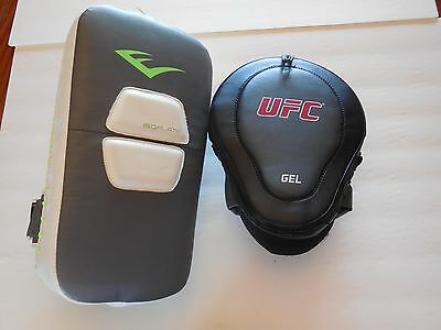 Everlast ISOplate Arm Pad Strike UFC Gel Punch Focus Mitt Boxing Kick MMA
