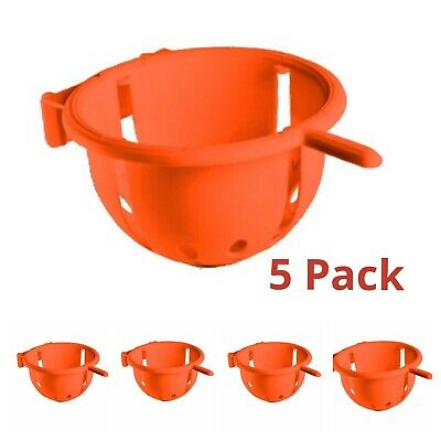 X 5 Large 11.5cm Plastic Nest Pan & Perch - Finch - Canary Ect Nesting Pan