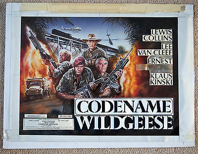 Codename Wildgeese TOM CHANTRELL + ENZO SCIOTTI Original Artwork and Quad Poster