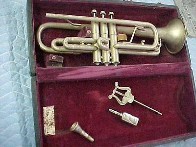 "Vintage Cavalier Cornet, Elkhart Ind in ""as found"" Condition."