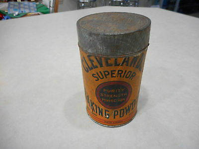 Antique Metal Cleveland's Superior Baking Powder Can