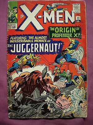 The X-Men #12 July 1965 Marvel Comics 1963 Series Silver Age Cents Copy Fair