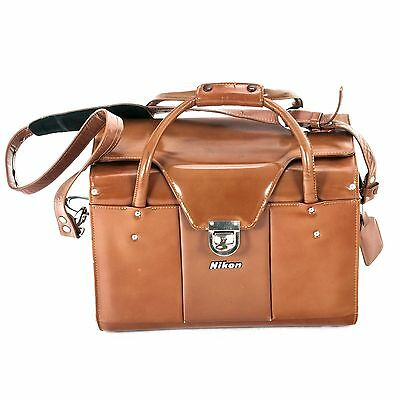 Nikon Genuine Hard Stitched Leather Bag for 2 Bodies and Lens - Vintage