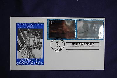 Escaping the Gravity of Earth $3.20 Stamps FDC Artmaster Sc#3411a-b 12838