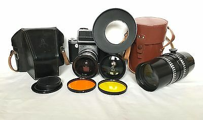 VINTAGE CAMERA - Pentacon Six TL with accessories - CLA