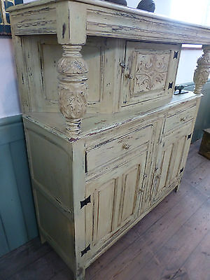 Vintage Shabby Chic Sideboard, Buffet, Court Cupboard
